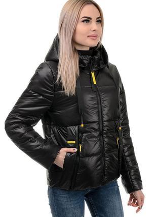 Женская куртка демисезонная черная