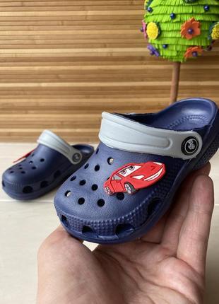 Кроксы jose amorales детские на мальчика синие 22-28 размер