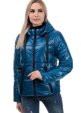 Женская куртка демисезонная волна