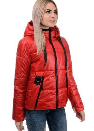 Женская куртка демисезонная красная