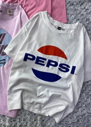 Хлопковая футболка с принтом pepsi h&m