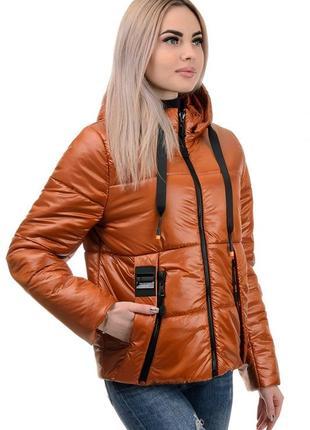 Женская куртка демисезонная терракот