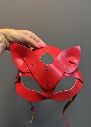 Маска женщина-кошка красная (m-r5red)4 фото