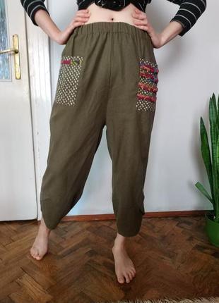 Легкі  брюки,бохо,оверсайз/ легкие брюки бохо