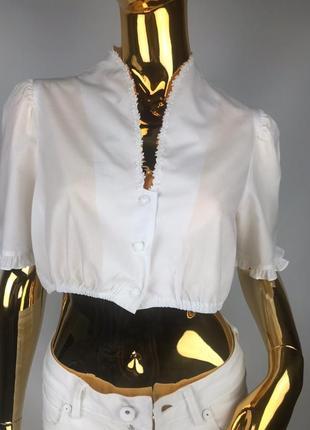 Котоновый топ в баварском/винтажном стиле кроп топ
