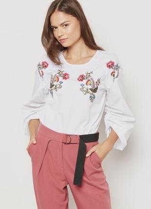 Оригинальная блузка-топ с вышивкой topshop, 12(40) будет и на м