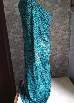 Женское платье трикотаж бирюзовый цвет3 фото