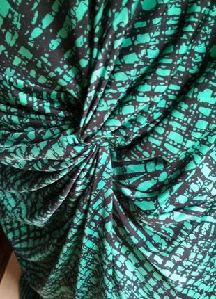Женское платье трикотаж бирюзовый цвет5 фото