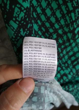 Женское платье трикотаж бирюзовый цвет7 фото