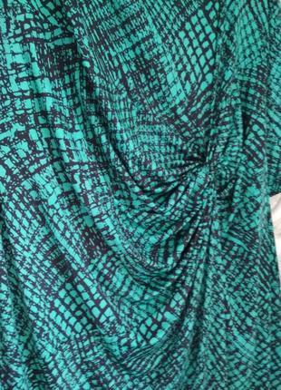 Женское платье трикотаж бирюзовый цвет8 фото