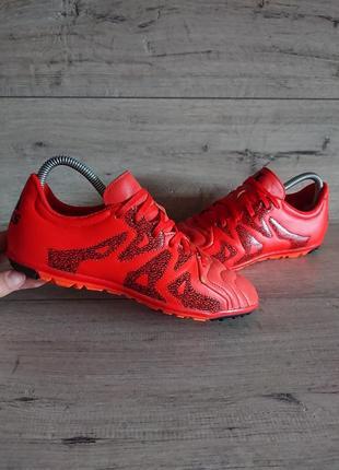 Сороконожки шиповки футзалки адидас adidas x 15.3 tf 37-38 2/3р 24,5 см кожа