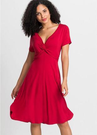 Трикотажное красное платье bovisoro/bodyflirt