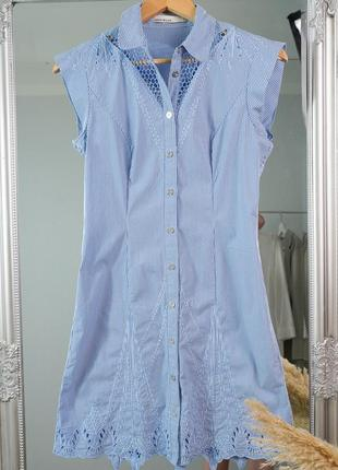 Платье, сарафан с объемными рукавами из прошвы zara sandro kors calvin klein massimo dutti
