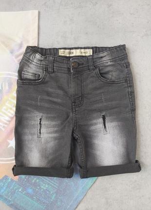 Стильные джинсовые шорты hm на 7 - 8лет