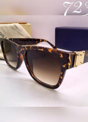 Женские солнцезащитные очки louis vuitton роговая оправа коричневые черепаха