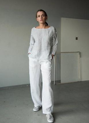 Свободные льняные брюки штаны на резинке - esmara германия m-l