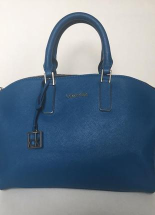 Шикарная сумка calvin klein,кожа сафьяно