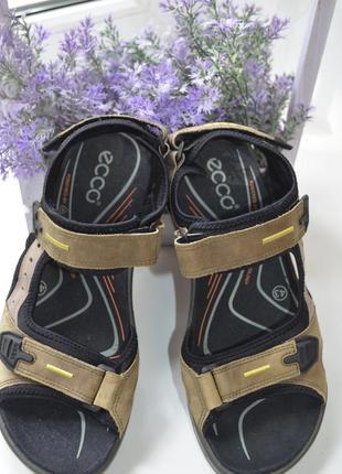 Кожаные сандали ecco оригинал р. 43 по стельке 28 см