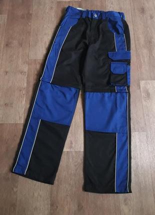 Рабочие брюки профессиональные штаны трансформеры спецодежда powerfix германия