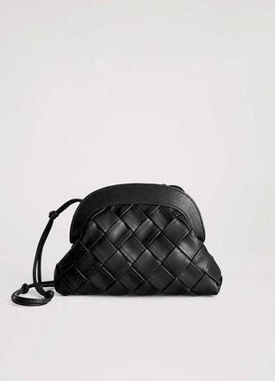 Mango новая стильная плетеная женская сумка через плечо от манго
