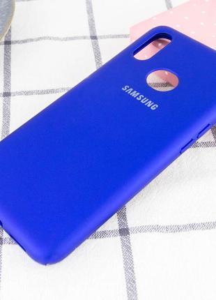 Чехол silicone cover full protective (a) - синий / navy