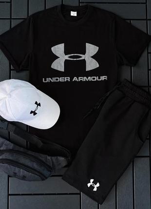 Комплект летний мужской (бананка + футболка + шорты + кепка)