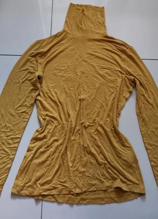 Гольф водолазка горчичная золотая 16 размер футболка с длинным рукавом