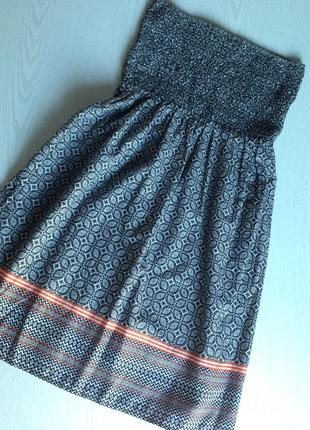 Платье сарафан хлопок открытые плечи