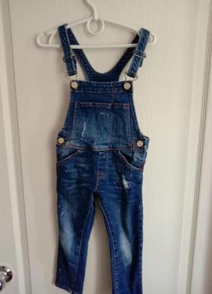 Стильный джинсовый комбинезон комбинезон скини