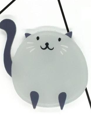 Крутой акриловый значек брошь брошка значок кот неко котик коте