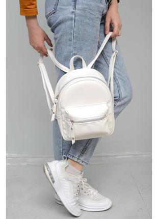 Рюкзак женский  белый рюкзак жіночий білий рюкзак городской