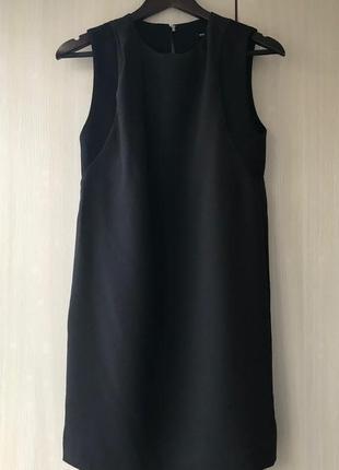 Черное платье из крепа mango / xs