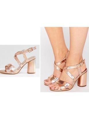 Босоножки туфли металлик 41 размер 40 размер