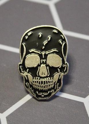 Большой выбор! стильный пин череп скелет демон рок готика брошь значок брошка