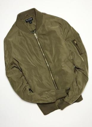 Бомбер куртка курточка хаки miss selfridge