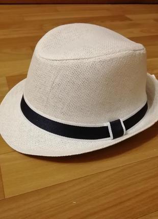 Шляпа челентанка белая  56-58 модель 2020