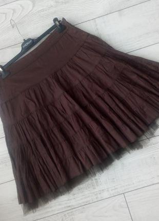 Очень красивая миди  юбка хлопок