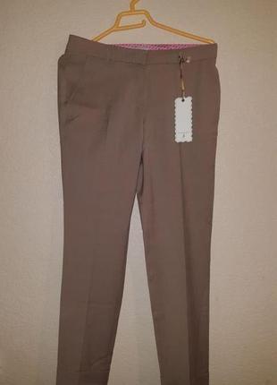 Бежевые классические женские брюки бананы дизайнер шерстяные шерсть кемел штаны коричневые