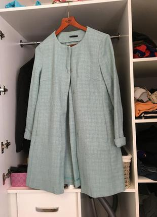 Твидовое пальто sisley