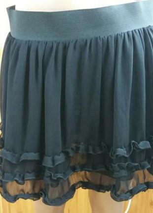 Брендовая шифоновая юбка