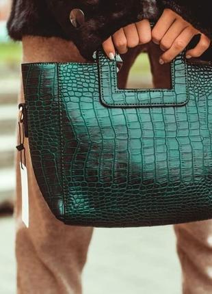 Крутая сумка из эко-кожи имитация кожи рептилии