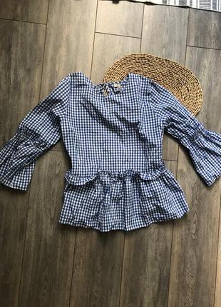 Блуза с рюшами asos