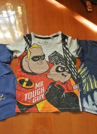 Распродажа!!! модные футболочки на малыша 1-2 года одним лотом
