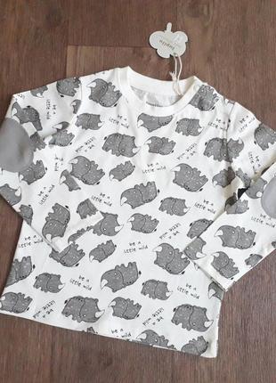 Реглан лонгслив футболка с длинным рукавом lupilu pure collection германия