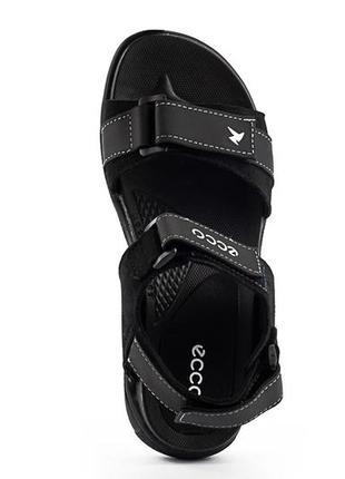 Мужские сандали нубуковые летние черные