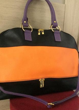 Классная большая сумка из натуральной кожи