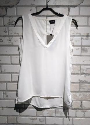 Шифоновая блуза без рукавов