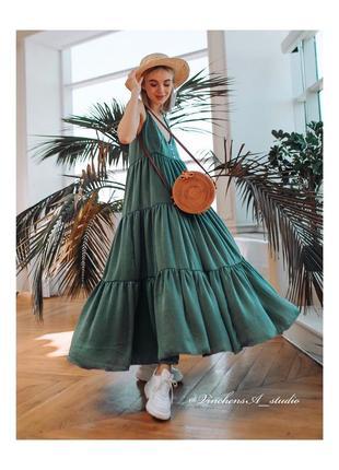 Сарафан / сукня із сатиру