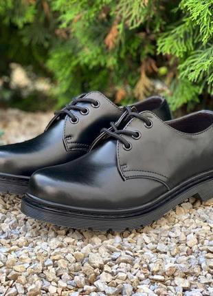 👟 туфли женские dr. martens 1461 mono black / наложенный платёж bs👟