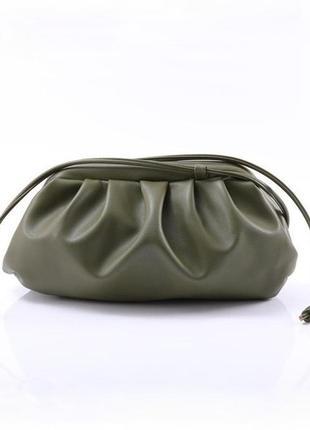 Сумка пельмень, женская сумочка хаки